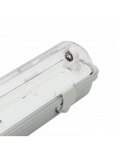Pantalla estanca para un tubo LED 120cm de conexción 1 lateral