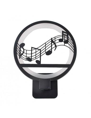 Aplique con diseño notas musicales...