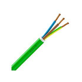 Manguera cable verde 3G 1.5mm2, inifugo homologado, rollo de 100m